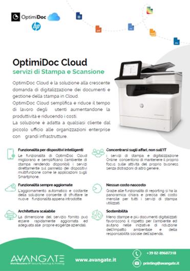 OptimiDoc Cloud per HP