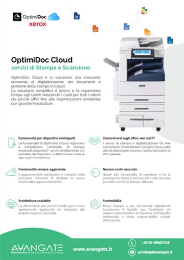 OptimiDoc Cloud per Xerox